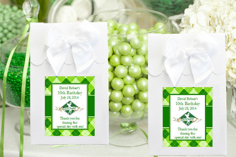 Golf Wedding Party Candy Shoppe favor gift boxes bags