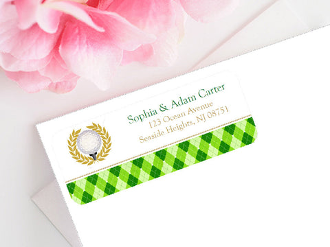 Golf Sports Wedding Party Mailing Address Labels Stickers