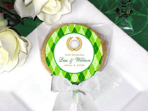 Golf Sports Wedding Party Cookie Pops Favors