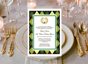 Golf Sports Wedding Party Invitations Annoucements