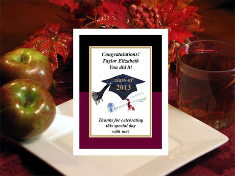 Graduation Party Hot Apple Cider Favors