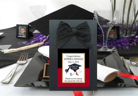 Graduation Party Black Candy Shoppe Favor Boxes Bags