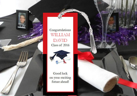 Graduation Party Bookmarks with Tassel Gift Favors