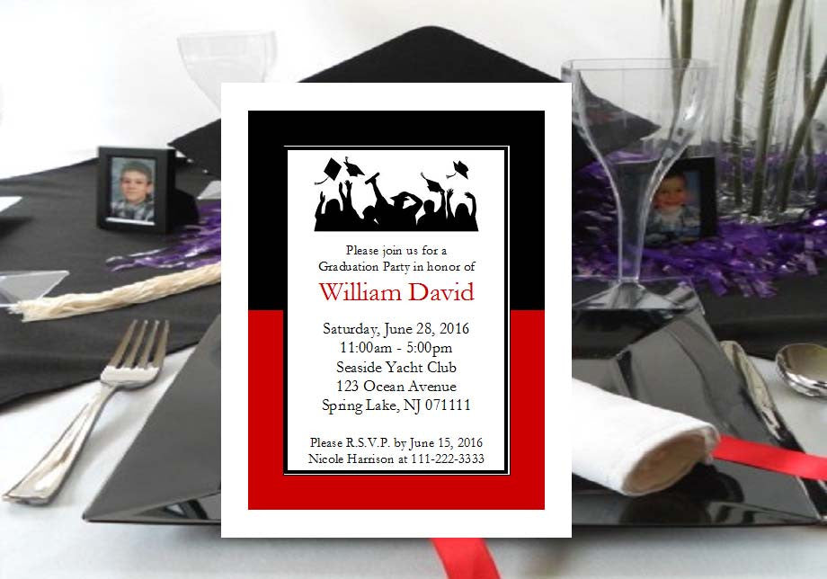 Graduation Photo Cards Invitations Announcements Pavia Party Favors