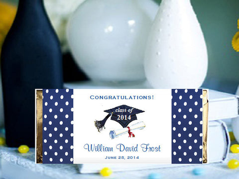 Graduation Party Candy Large Chocolate Bar Wrapper Favors
