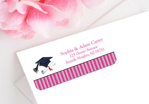 Graduation Party Mailing Address Labels Stickers