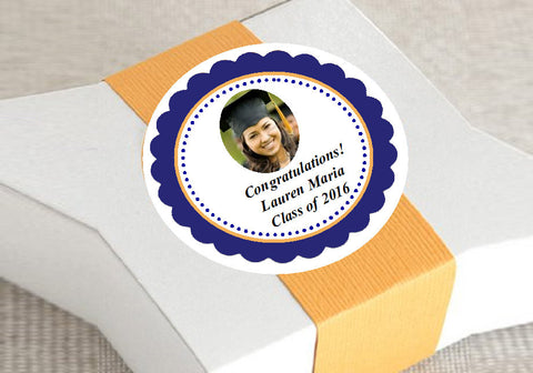 Graduation Party Round Favor Labels Stickers