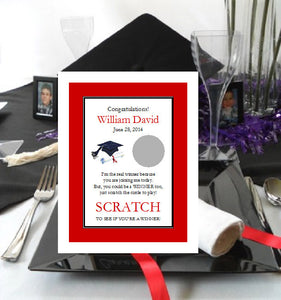 Graduation Party Scratch Off Tickets Card Games