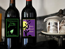 Halloween Party Wine Bottle Labels Stickers