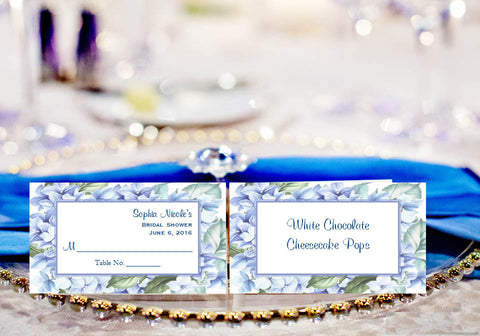 Hydrangea Wedding Bridal Buffet Escort Cards