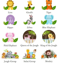 Jungle Safari Animal Baby Shower Water Bottle Labels Stickers