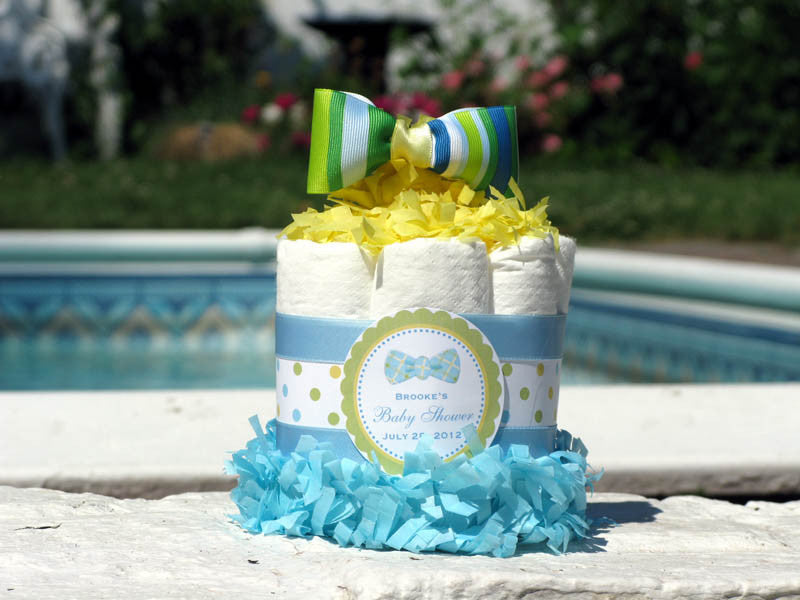 Baby Shower Little Man Bow Tie Diaper Cake Centerpiece - Classic