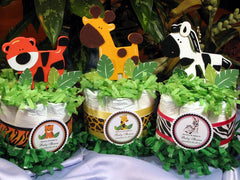 Wild Jungle Sweet Safari Animal Diaper Cake Centerpieces