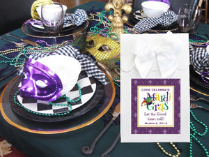 Mardi Gras Party Candy Shoppe Boxes Bags Totes