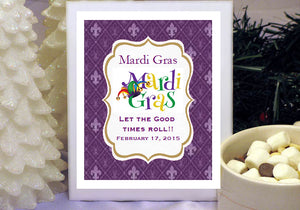 Mardi Gras Party Hot Chocolate Cocoa Favors
