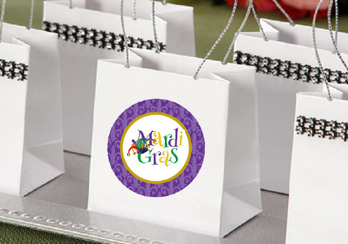 Mardi Gras Party Mini Favor Gift Bags Totes