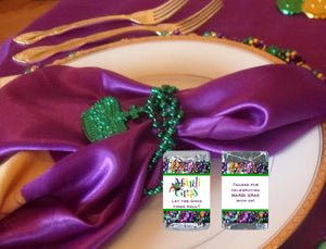Mardi Gras Party Hershey Mini Candy Wrappers