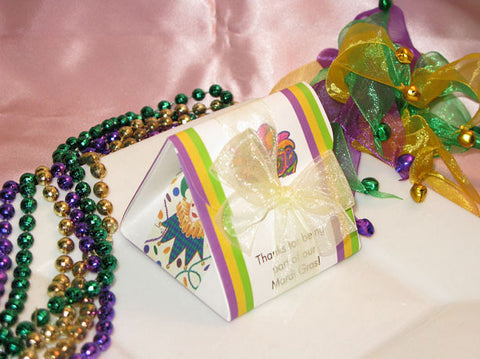Mardi Gras Party Origami Favor Boxes