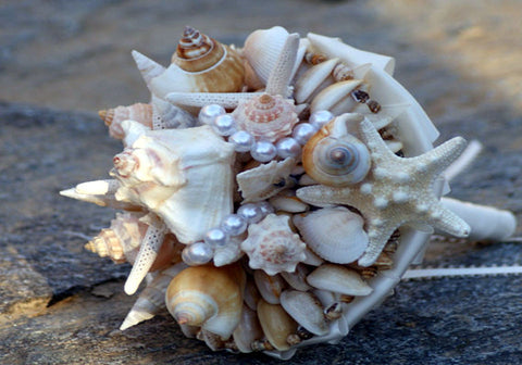Summer Ocean Beach Tropical Shell Sea Wedding Bridal Bouquet