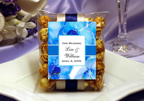 Orchid Tropical DIY Caramel Corn Favors