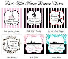 Paris French Eiffel Tower Place Card Holders