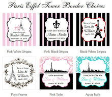 Paris French Eiffel Small Wine Bottle Labels Stickers