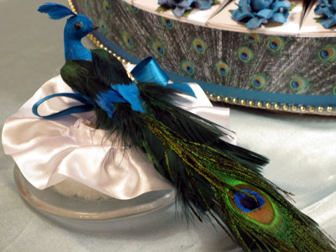 Peacock Wedding Cake Topper Decor Decorations