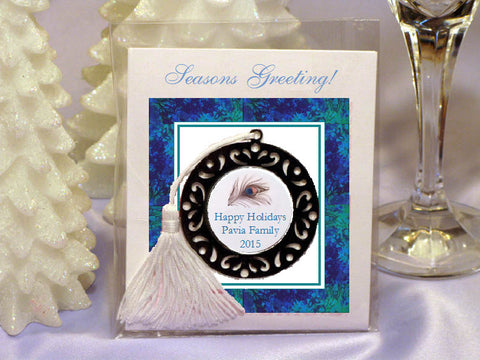 Peacock Wedding Holiday Metal Bookmark Ornament Favors