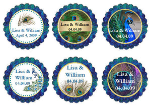 Peacock Wedding Cupcake Toppers Decorations