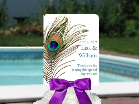 Peacock Wedding Favor Hand Fans No Borders
