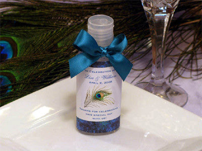 Peacock Wedding Hand Sanitizers Favors