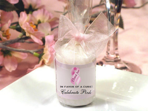 Think Celebrate Wear Pink Ribbon Candles Favors