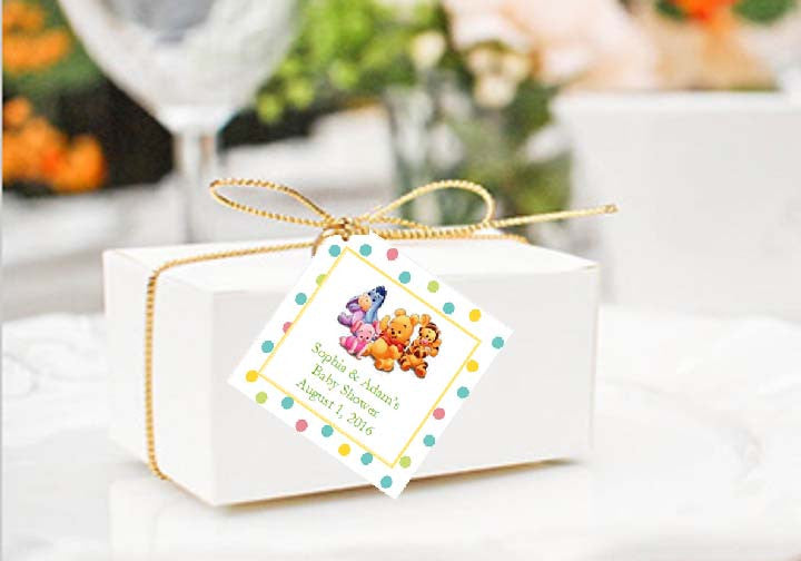 Winnie The Baby Pooh And Friends Baby Shower Favor Gift Tags Pavia