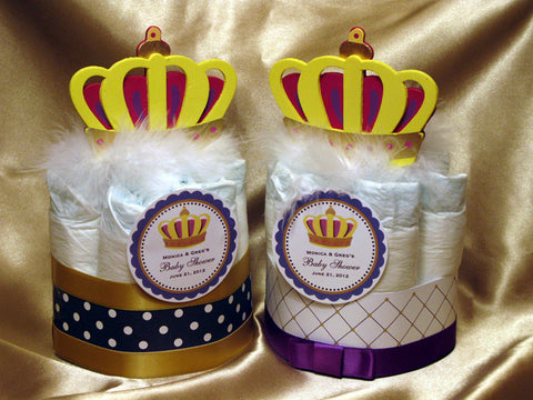 Baby Shower Royal Prince Diaper Cake Centerpiece