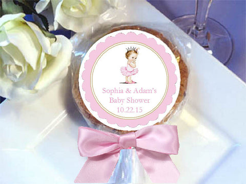 Princess Little Pink Gold Baby Shower Cookie Pops