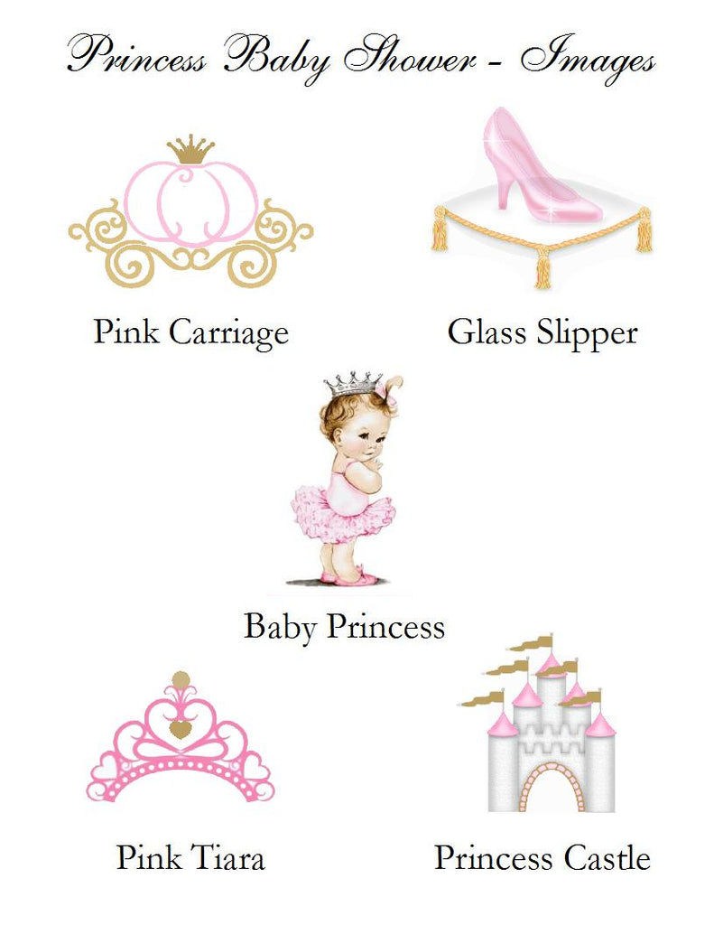 Princess Little Pink Gold Baby Shower Place Cards
