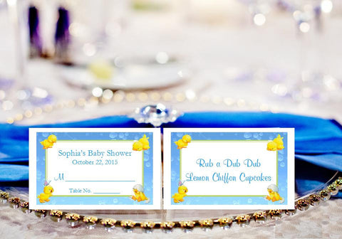 Duck Baby Shower Rubber Duck Buffet Escort Place Cards