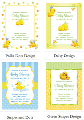 Duck Baby Shower Rubber Duck Candy Shoppe Boxes Bags