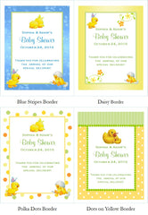 Duck Baby Shower Rubber Duck Hot Apple Cider Packet Favors