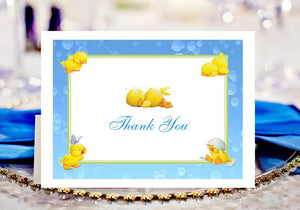 Duck Baby Shower Rubber Duck Thank You Cards Notes