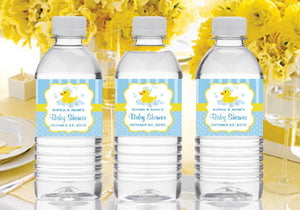 Duck Baby Shower Rubber Duck Water Bottle Labels Stickers