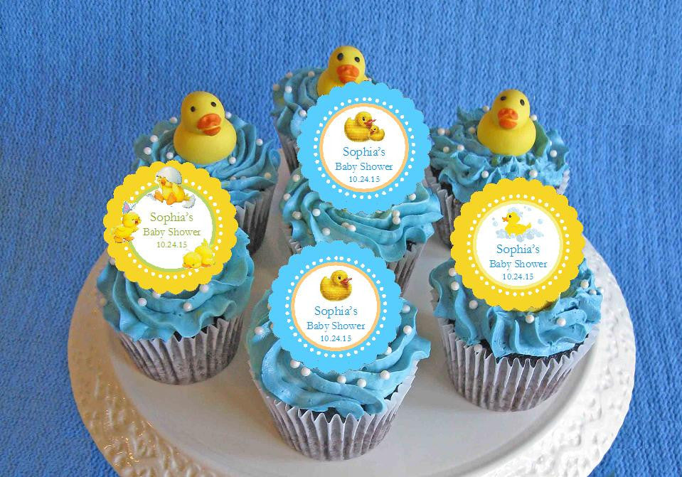 duck baby shower rubber duck cupcake toppers picks decorations