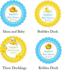 Duck Baby Shower Rubber Duck Cupcake Towels Favors