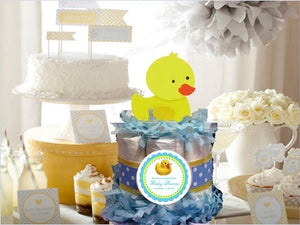 Duck Baby Shower Rubber Ducky Diaper Cake Centerpieces CLASSIC size