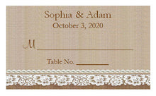 Country Fall Rustic Wedding Buffet Escort Place Cards