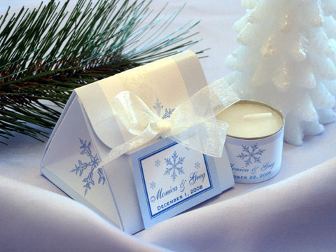 Winter Wedding - Let It Snow Party - Origami Favor Boxes Favors
