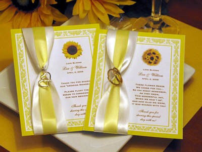 Sunflower Country Rustic Wedding Seed Packet Favors