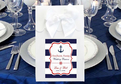 Sailing Nautical Wedding Candy Shoppe Boxes Bags Totes