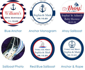 Sailing Nautical Wedding Envelope Seals Stickers Labels