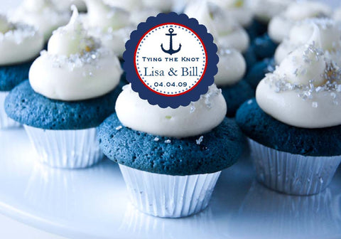 Sailing Nautical Wedding Cupcake Toppers Decorations